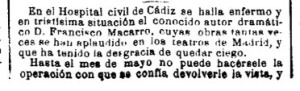 macarro  La Epoca 25 noviembre 1886